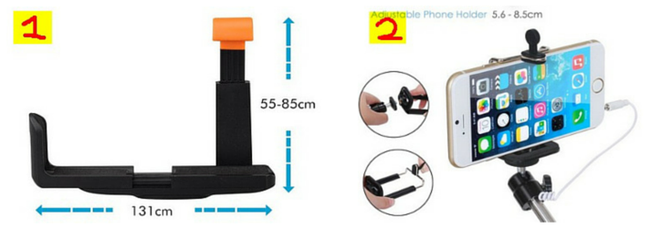Types of phone holders for selfie sticks